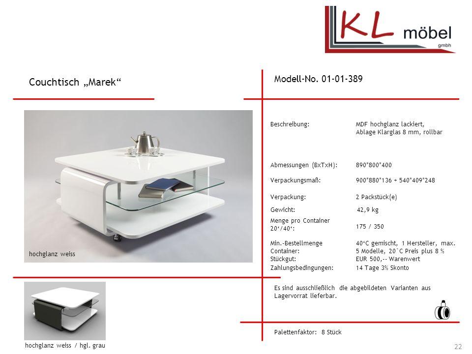 """Couchtisch """"Marek Modell-No. 01-01-389 Beschreibung:"""