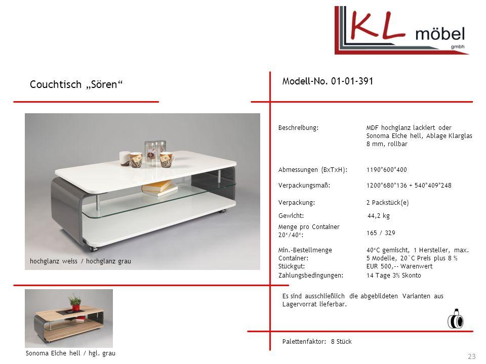 """Couchtisch """"Sören Modell-No. 01-01-391 Beschreibung:"""