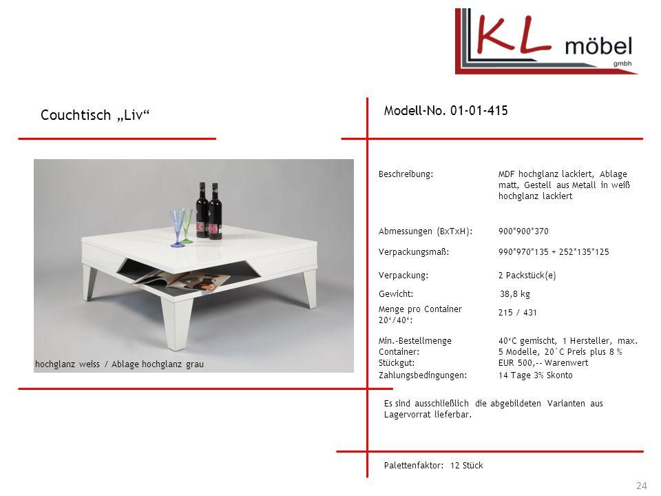 "Couchtisch ""Liv Modell-No. 01-01-415 Beschreibung:"