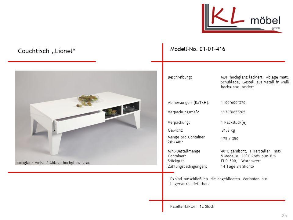 """Couchtisch """"Lionel Modell-No. 01-01-416 Beschreibung:"""