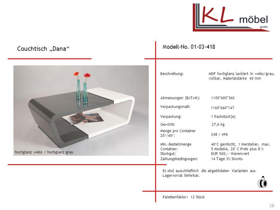 "Couchtisch ""Dana Modell-No. 01-03-418 Beschreibung:"