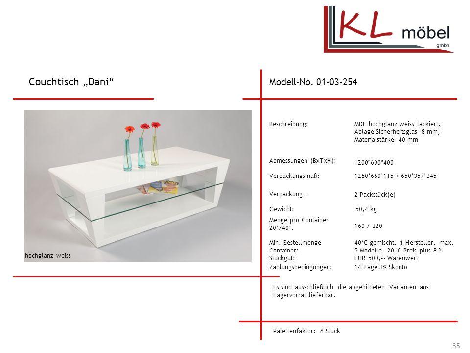 "Couchtisch ""Dani Modell-No. 01-03-254 Beschreibung:"