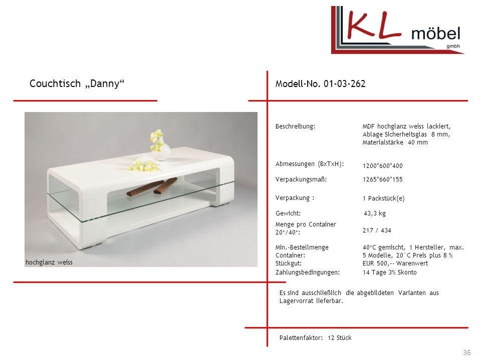 "Couchtisch ""Danny Modell-No. 01-03-262 Beschreibung:"