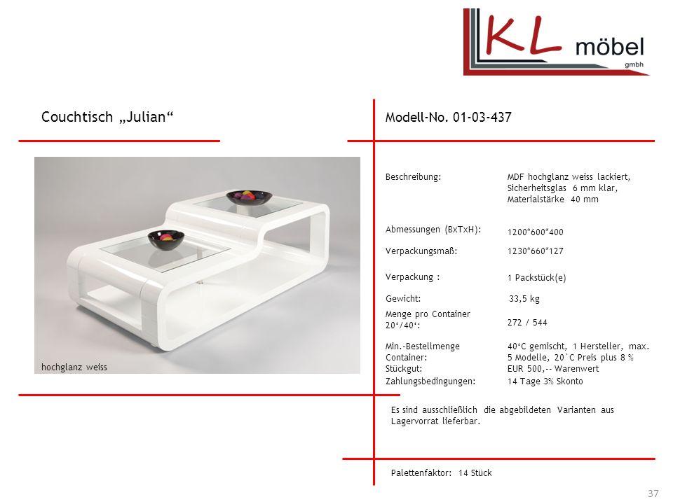 """Couchtisch """"Julian Modell-No. 01-03-437 Beschreibung:"""
