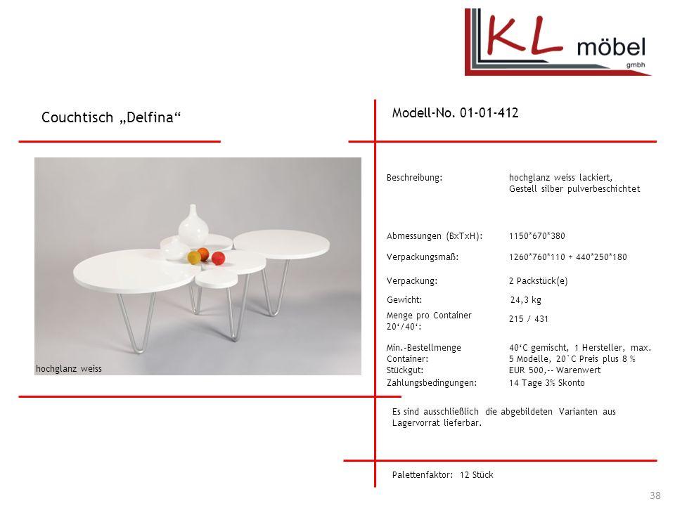 "Couchtisch ""Delfina Modell-No. 01-01-412 Beschreibung:"