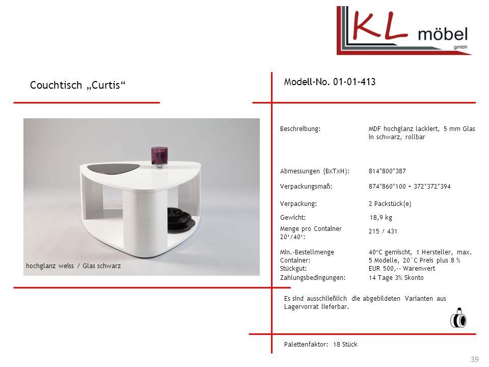"""Couchtisch """"Curtis Modell-No. 01-01-413 Beschreibung:"""
