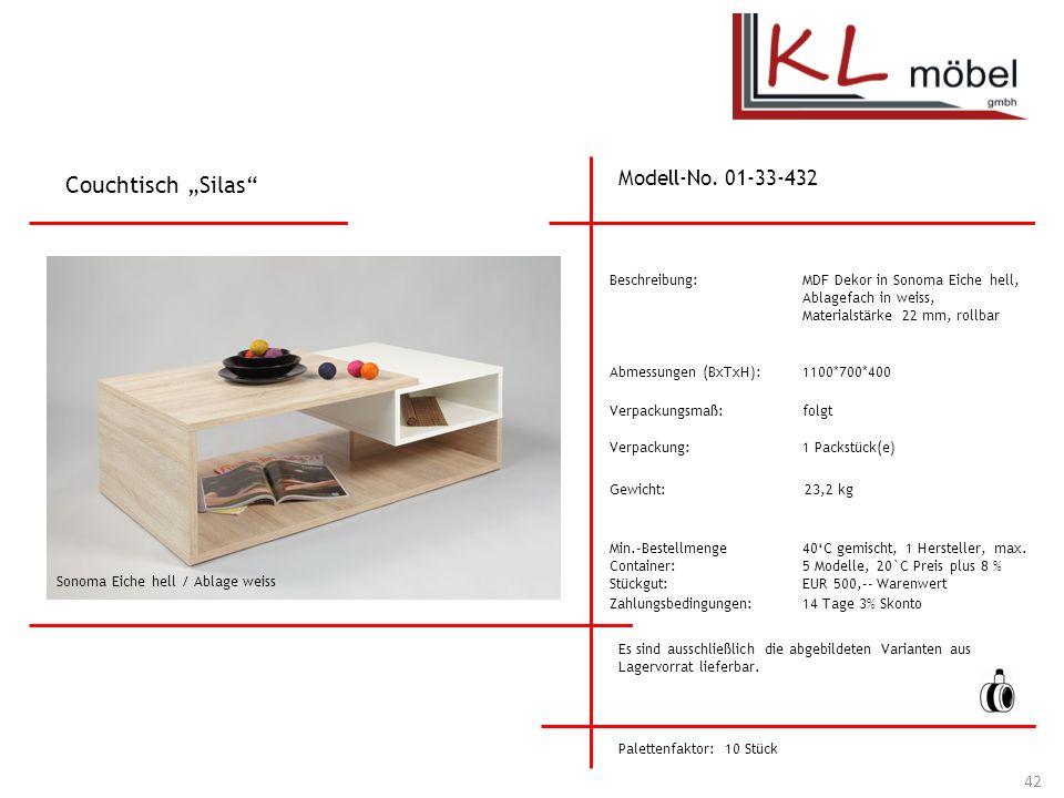 """Couchtisch """"Silas Modell-No. 01-33-432 Beschreibung:"""