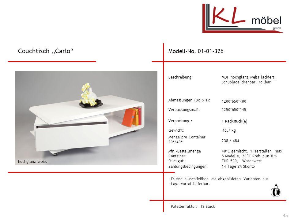 """Couchtisch """"Carlo Modell-No. 01-01-326 Beschreibung:"""