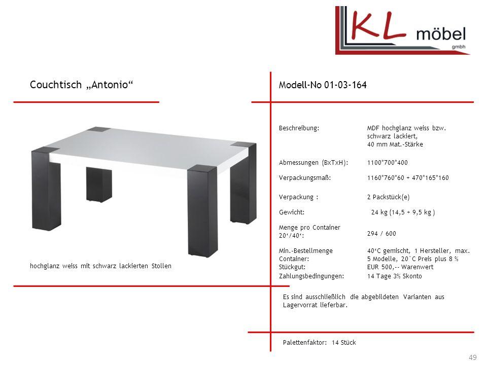 """Couchtisch """"Antonio Modell-No 01-03-164 Beschreibung:"""