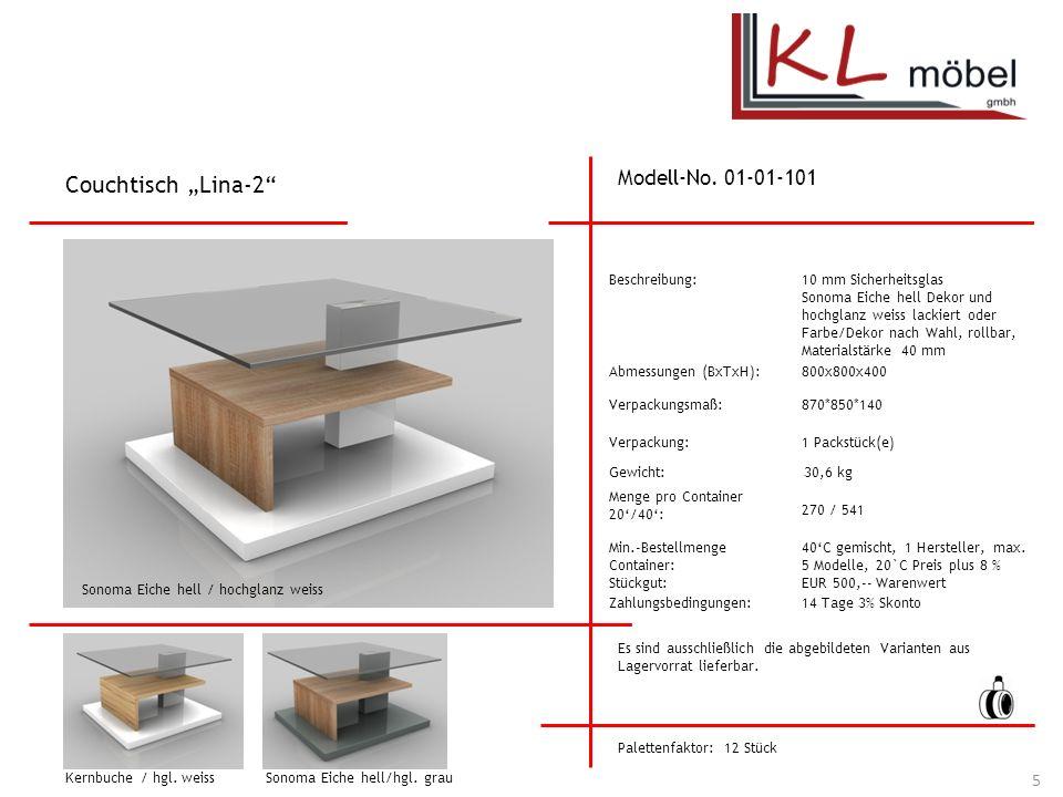 """Couchtisch """"Lina-2 Modell-No. 01-01-101 Beschreibung:"""