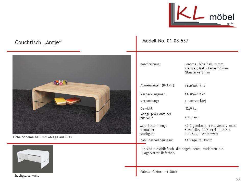 "Couchtisch ""Antje Modell-No. 01-03-537 Beschreibung:"