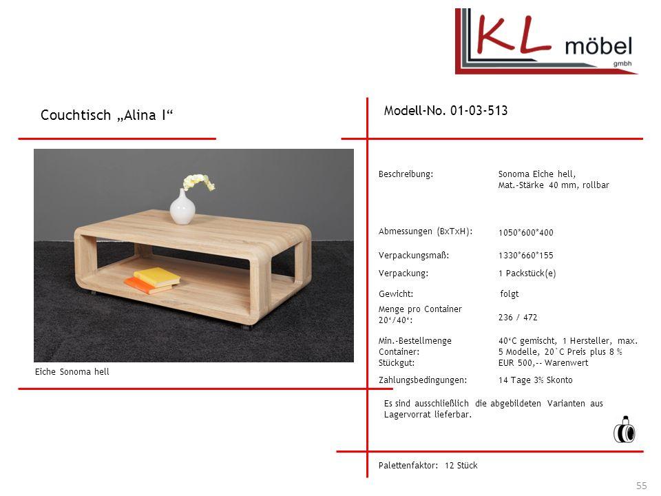 "Couchtisch ""Alina I Modell-No. 01-03-513 Beschreibung:"