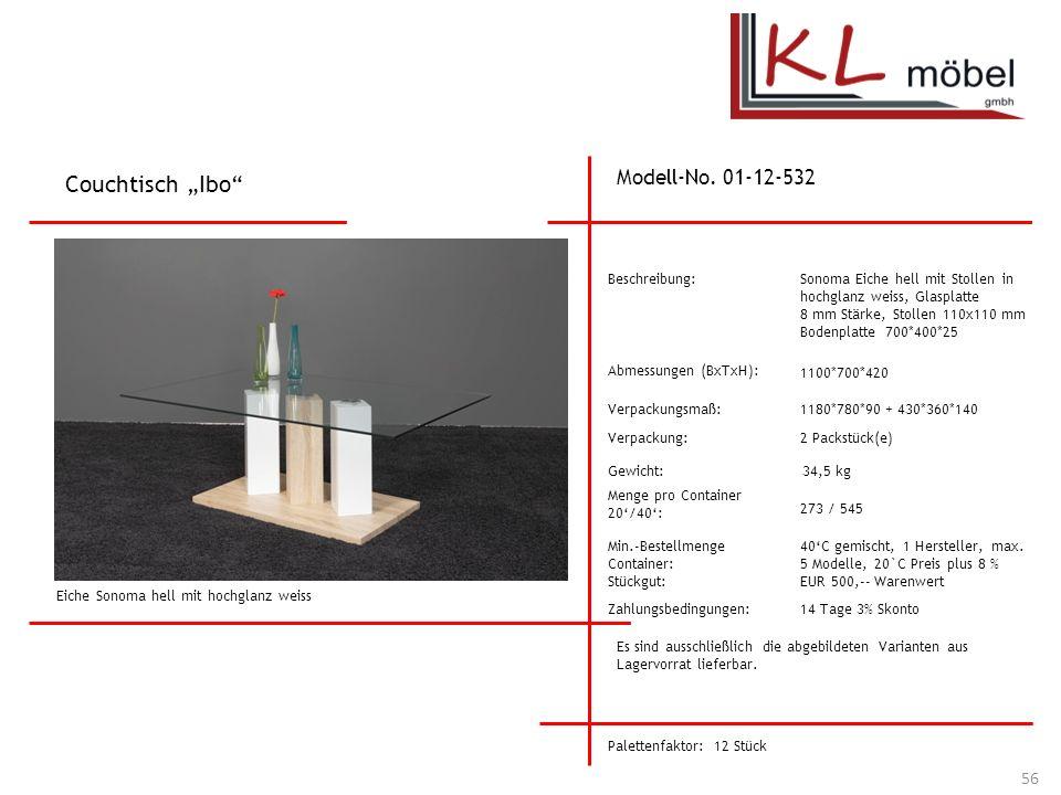 """Couchtisch """"Ibo Modell-No. 01-12-532 Beschreibung:"""