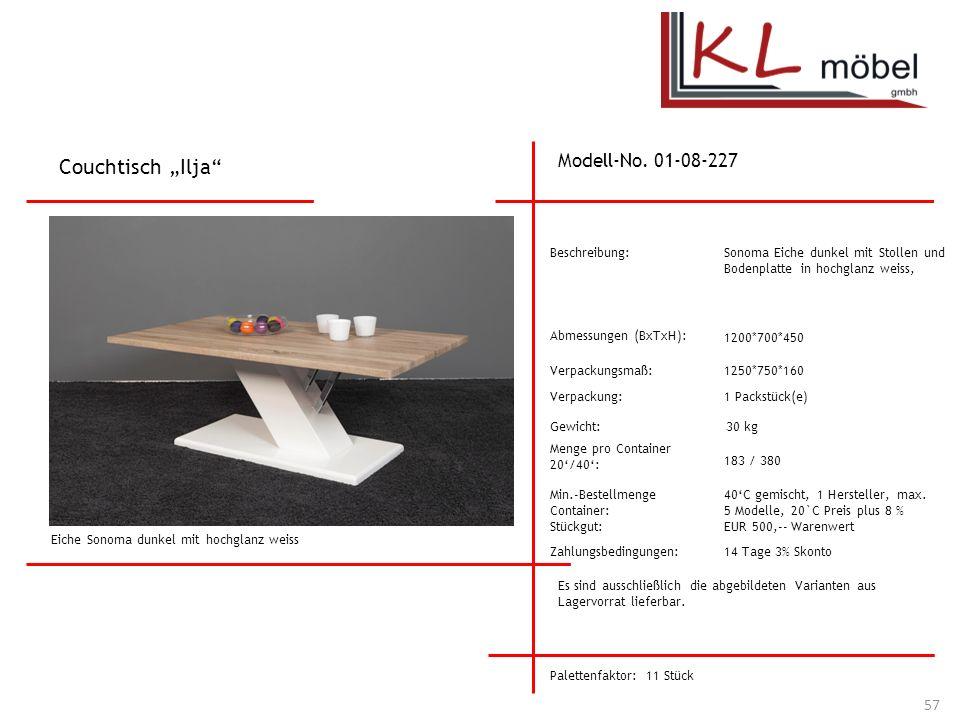 """Couchtisch """"Ilja Modell-No. 01-08-227 Beschreibung:"""