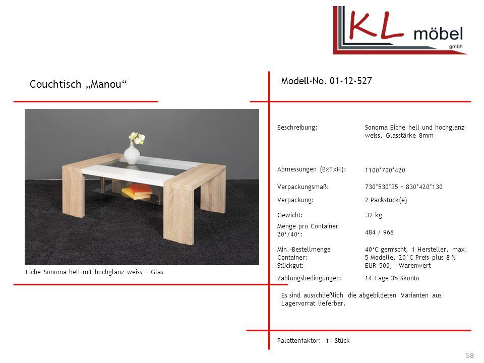 "Couchtisch ""Manou Modell-No. 01-12-527 Beschreibung:"