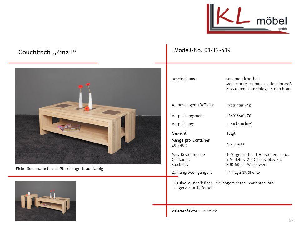 "Couchtisch ""Zina I Modell-No. 01-12-519 Beschreibung:"