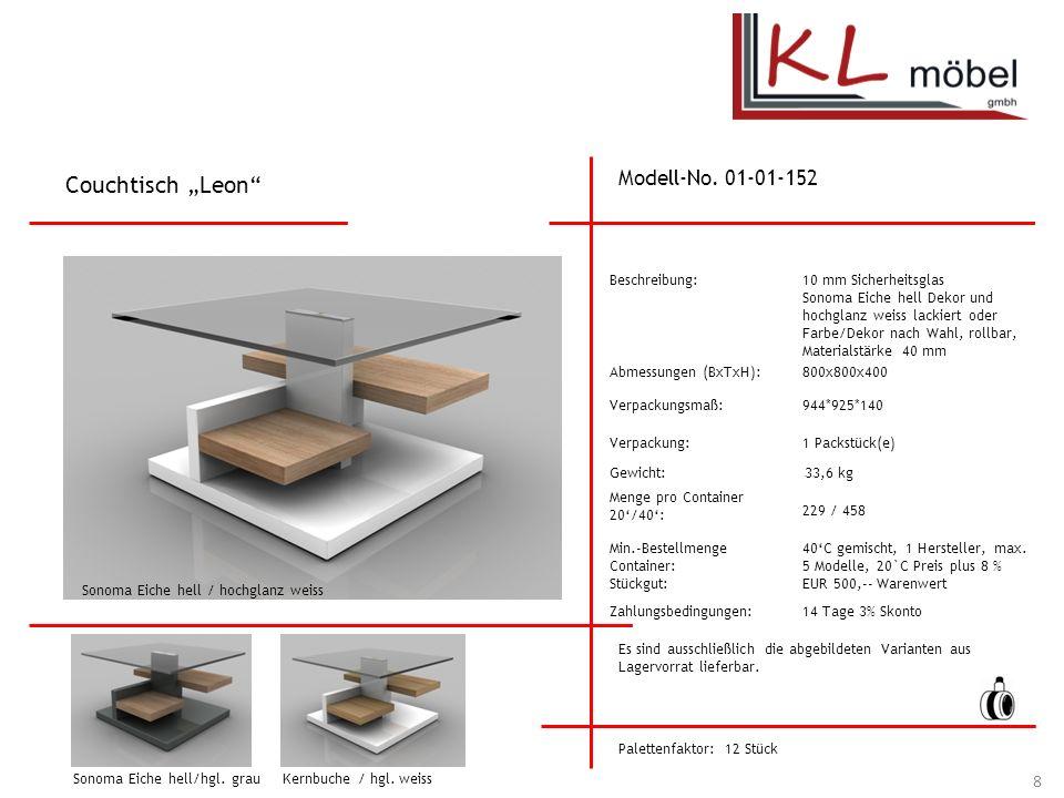 """Couchtisch """"Leon Modell-No. 01-01-152 Beschreibung:"""