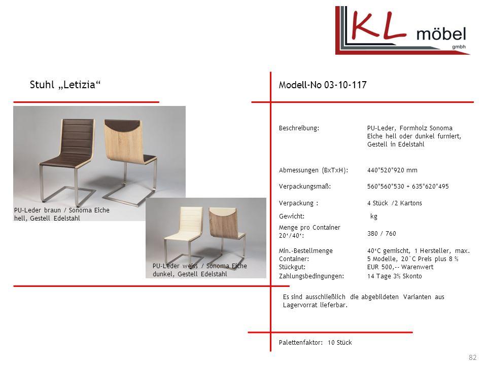 "Stuhl ""Letizia Modell-No 03-10-117 Beschreibung:"