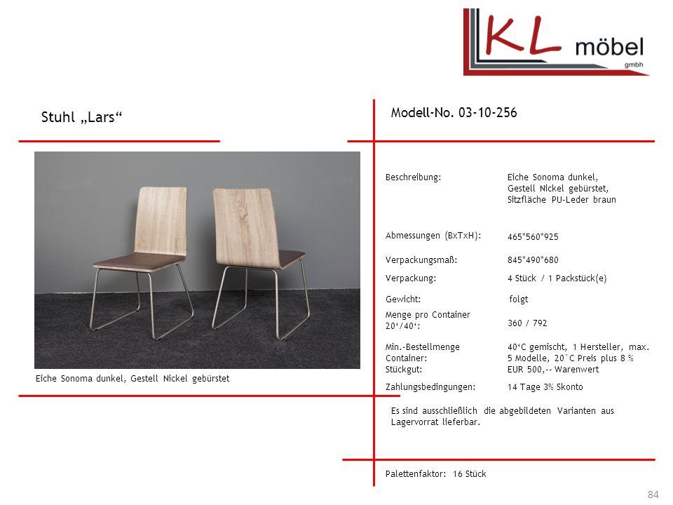 "Stuhl ""Lars Modell-No. 03-10-256 Beschreibung: Eiche Sonoma dunkel,"