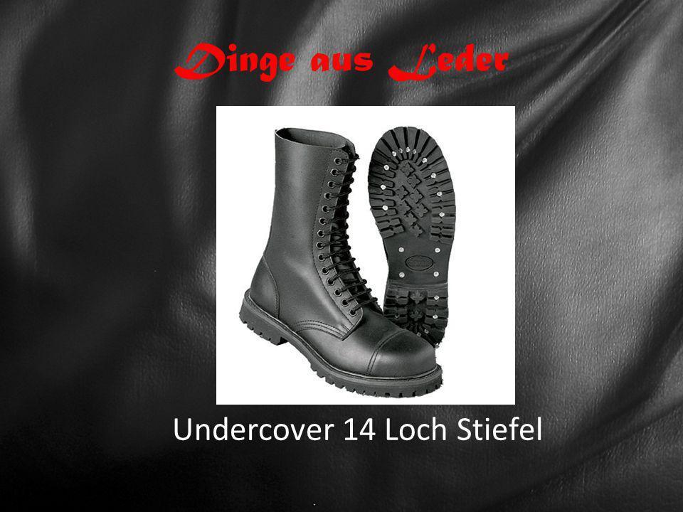 Dinge aus Leder Undercover 14 Loch Stiefel