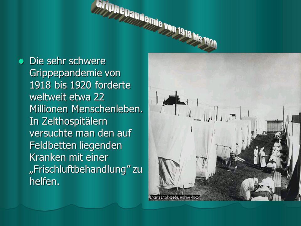 Grippepandemie von 1918 bis 1920