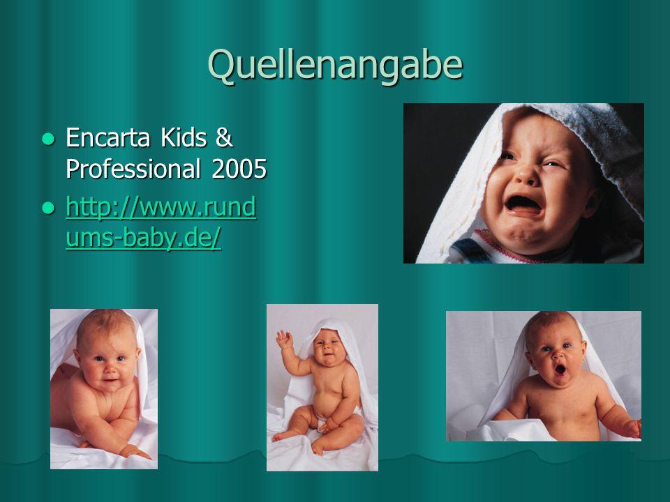 Quellenangabe Encarta Kids & Professional 2005