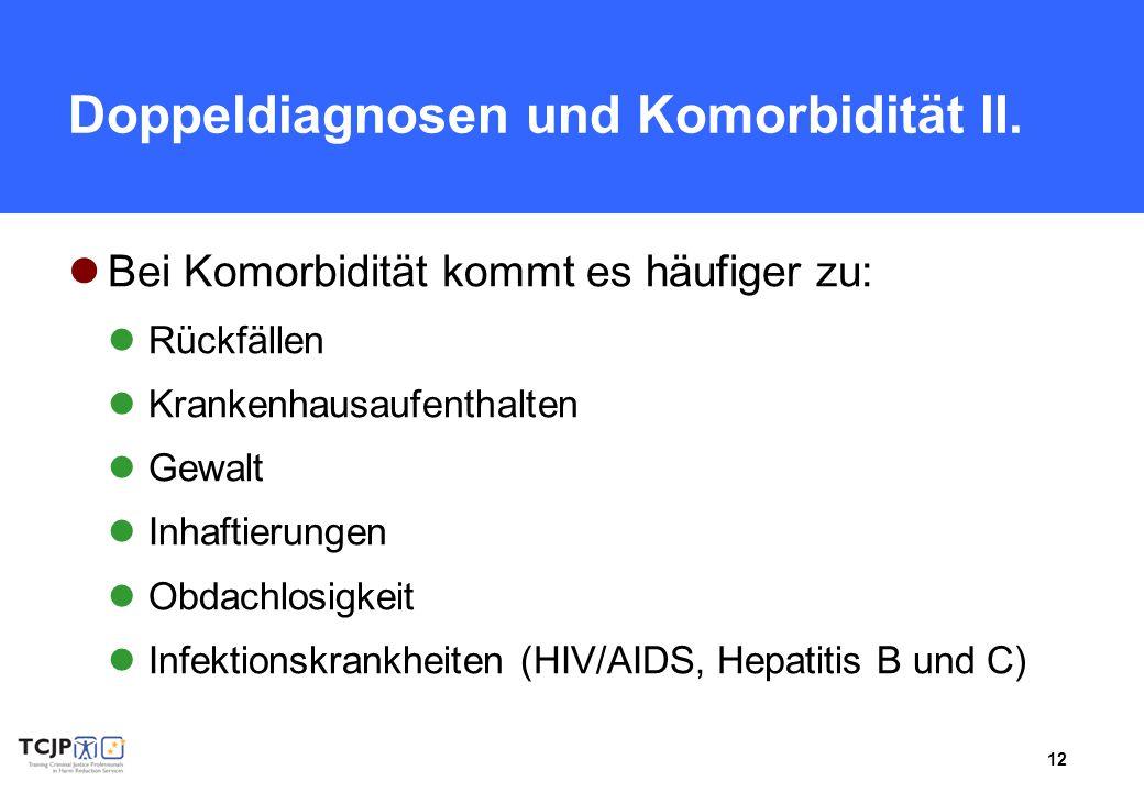 Doppeldiagnosen und Komorbidität II.
