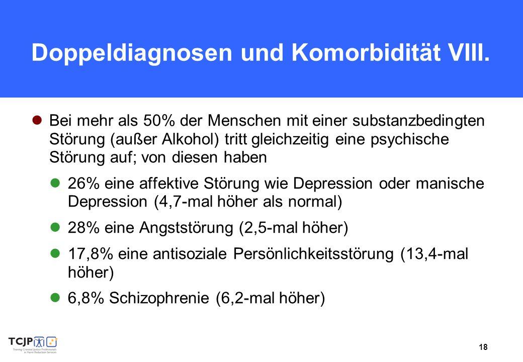 Doppeldiagnosen und Komorbidität VIII.