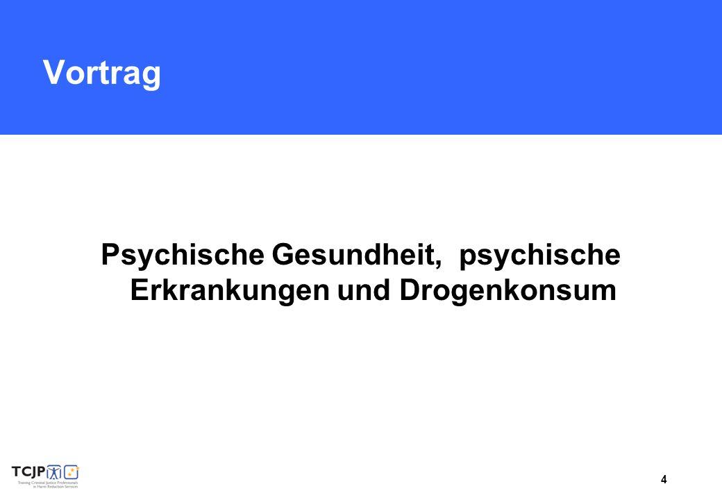Psychische Gesundheit, psychische Erkrankungen und Drogenkonsum