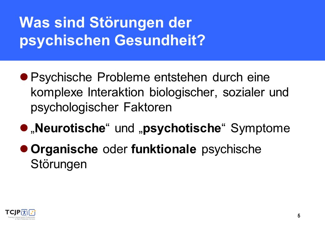 Was sind Störungen der psychischen Gesundheit