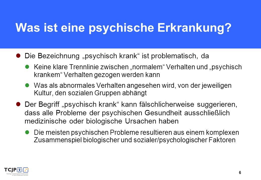Was ist eine psychische Erkrankung