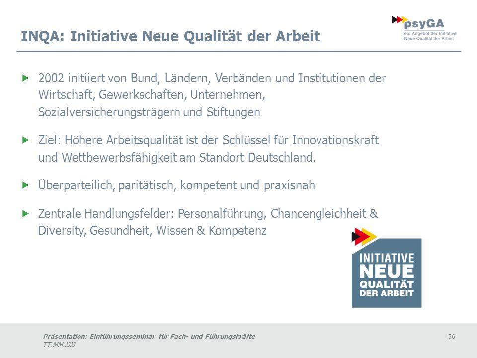 INQA: Initiative Neue Qualität der Arbeit