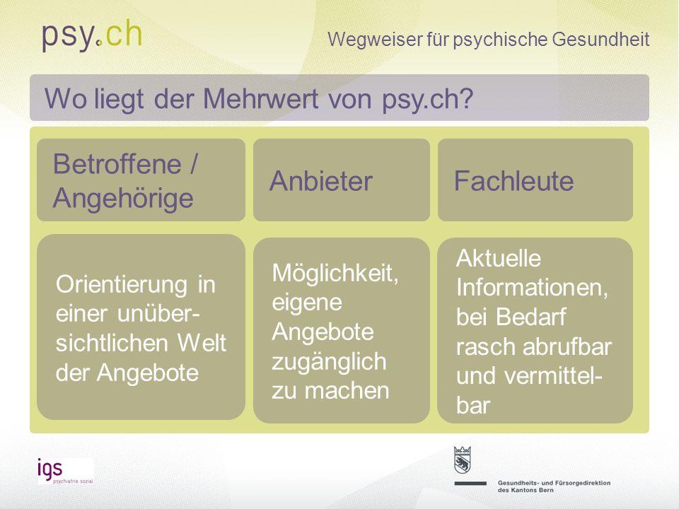 Wo liegt der Mehrwert von psy.ch