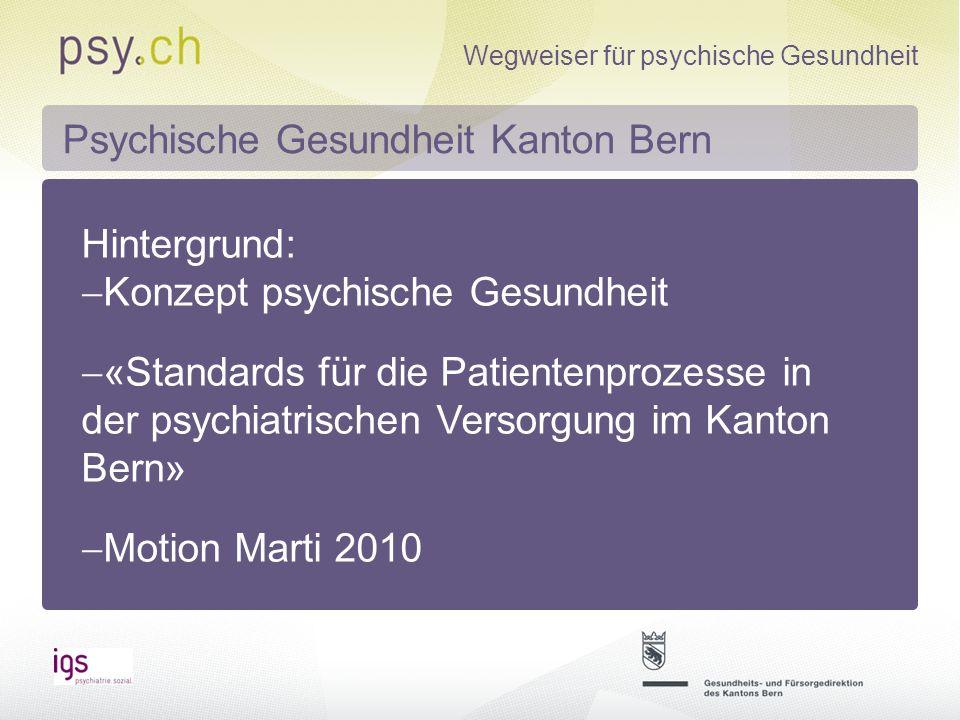 Psychische Gesundheit Kanton Bern