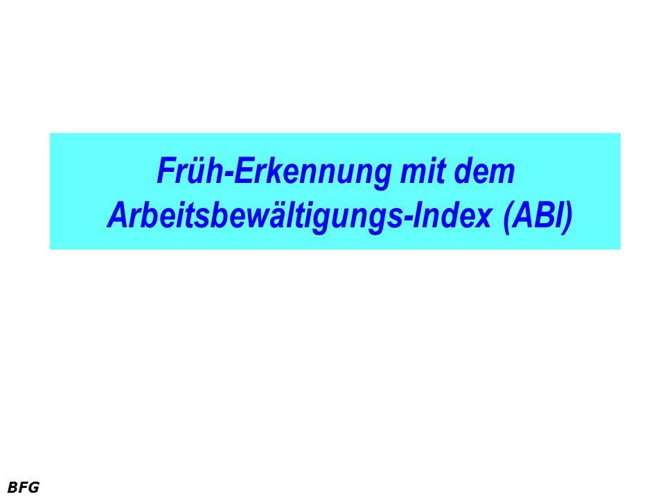 Früh-Erkennung mit dem Arbeitsbewältigungs-Index (ABI)