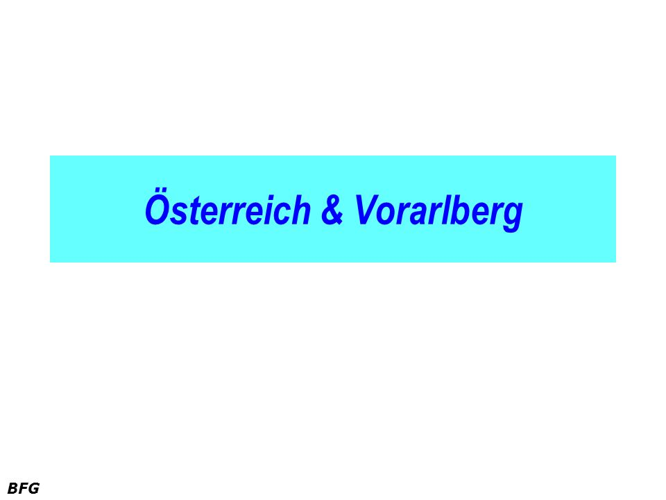 Österreich & Vorarlberg