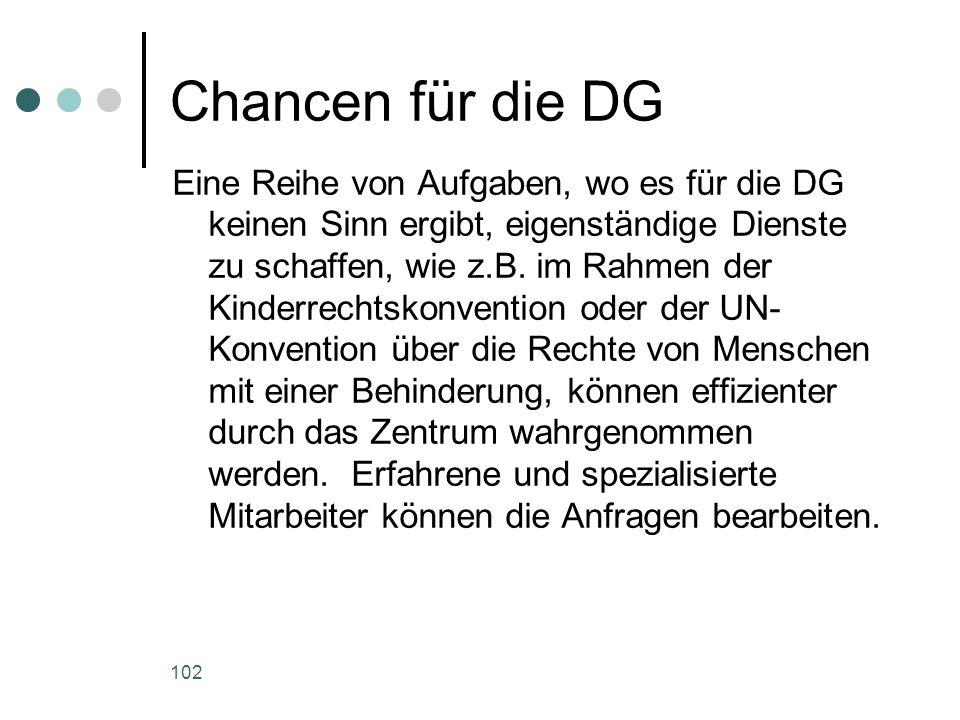 Chancen für die DG