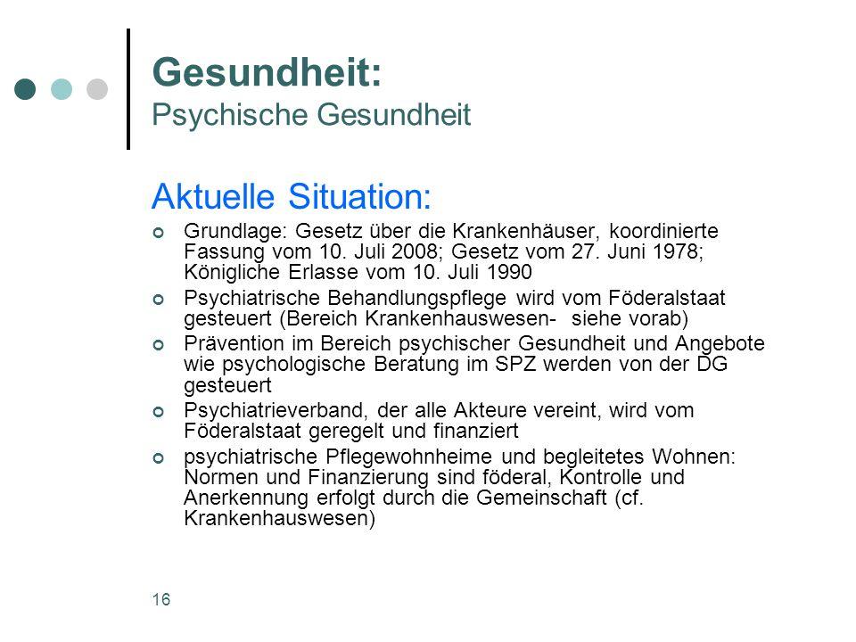 Gesundheit: Psychische Gesundheit