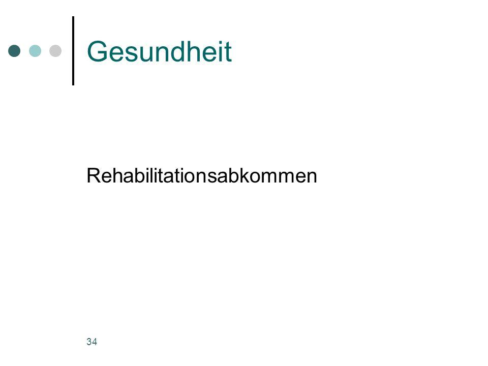 Gesundheit Rehabilitationsabkommen