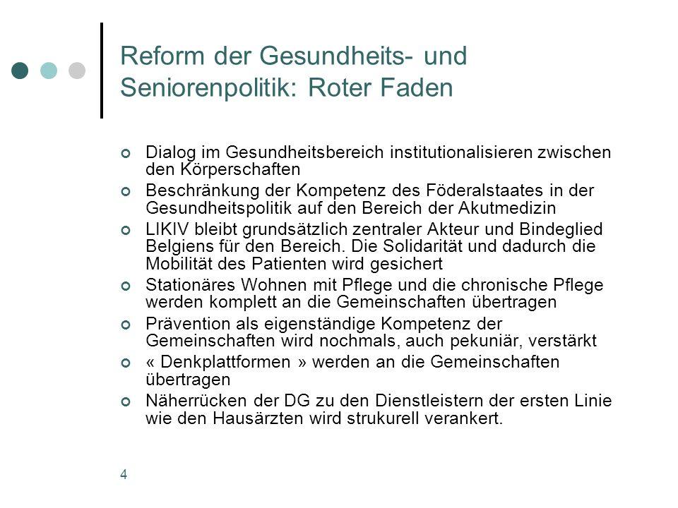 Reform der Gesundheits- und Seniorenpolitik: Roter Faden