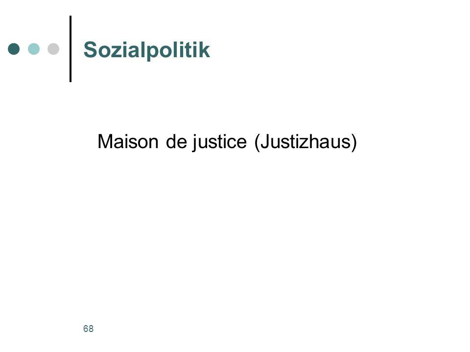 Sozialpolitik Maison de justice (Justizhaus)