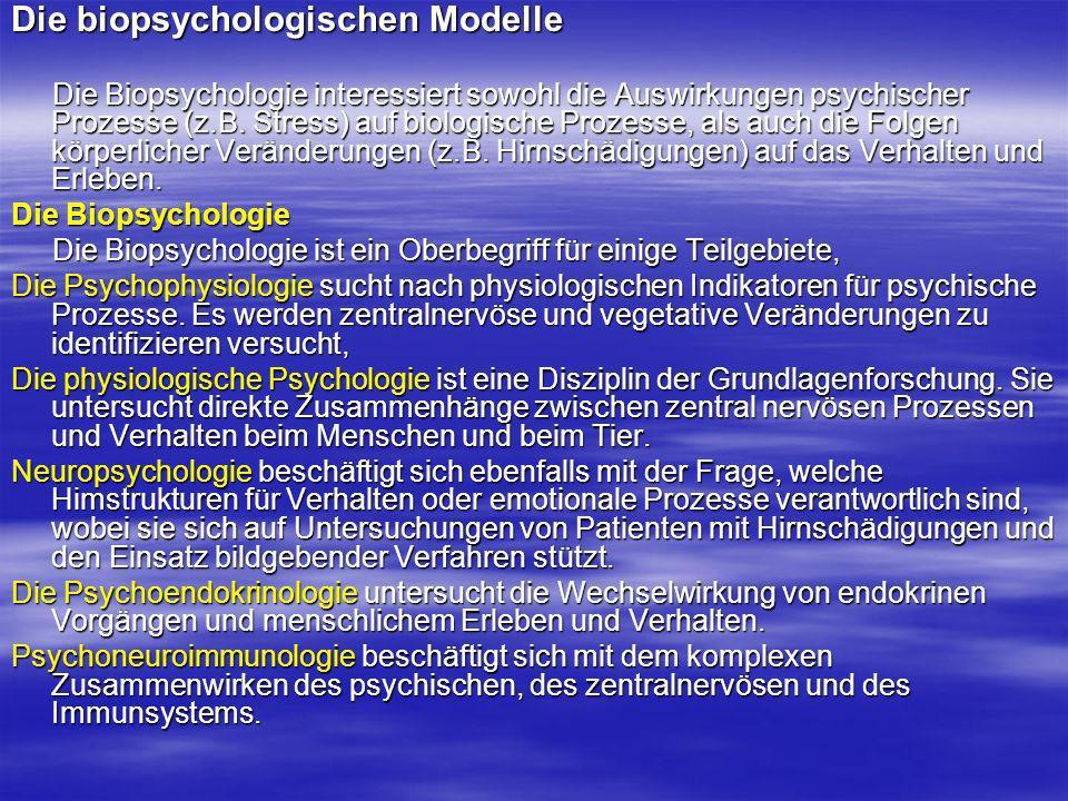 Die biopsychologischen Modelle