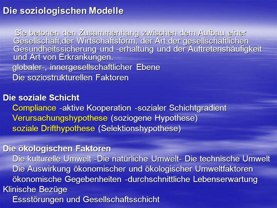 Die soziologischen Modelle