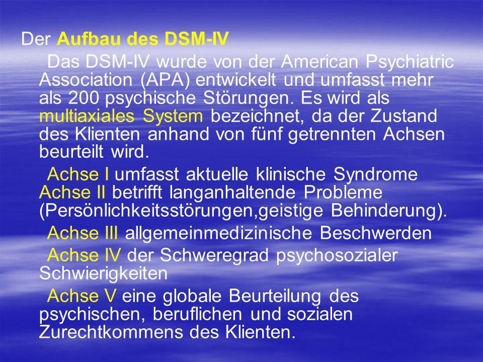 Der Aufbau des DSM-IV