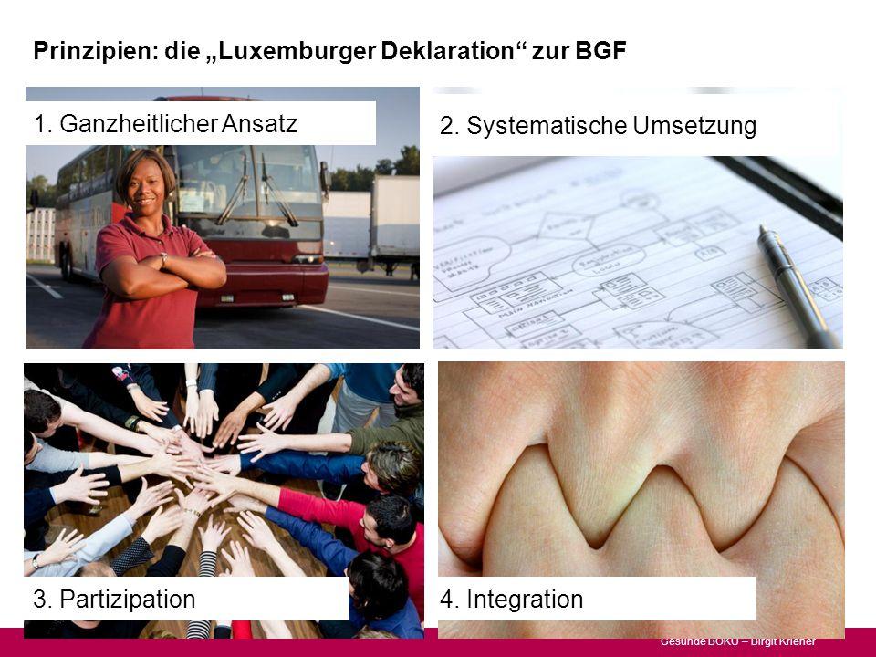 """Prinzipien: die """"Luxemburger Deklaration zur BGF"""