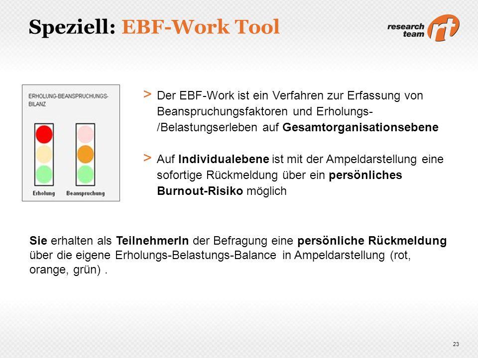 Speziell: EBF-Work Tool