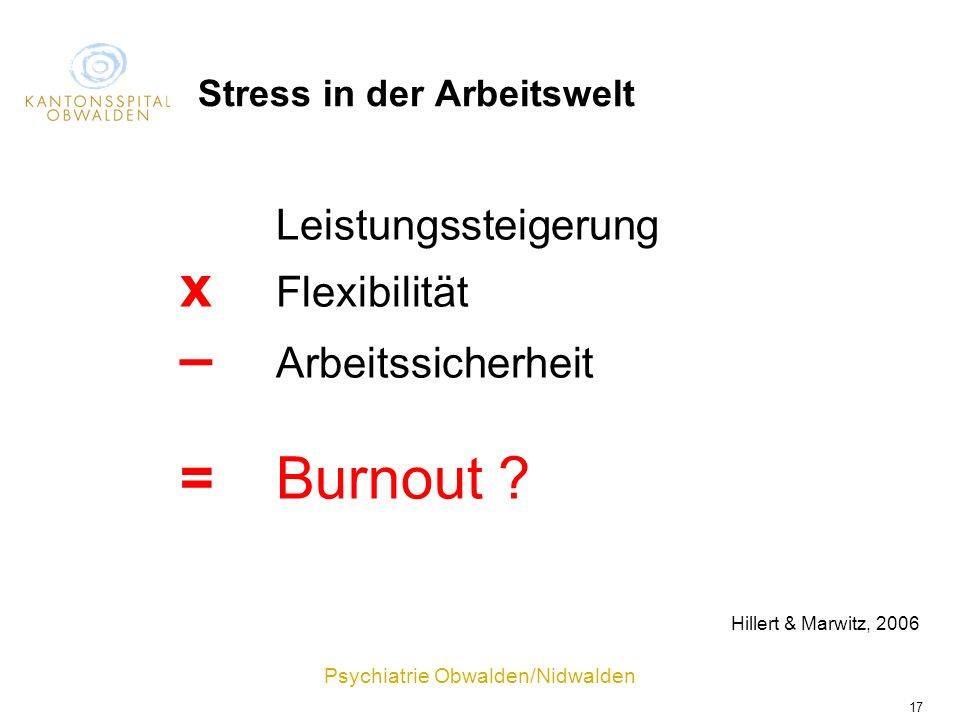 Stress in der Arbeitswelt