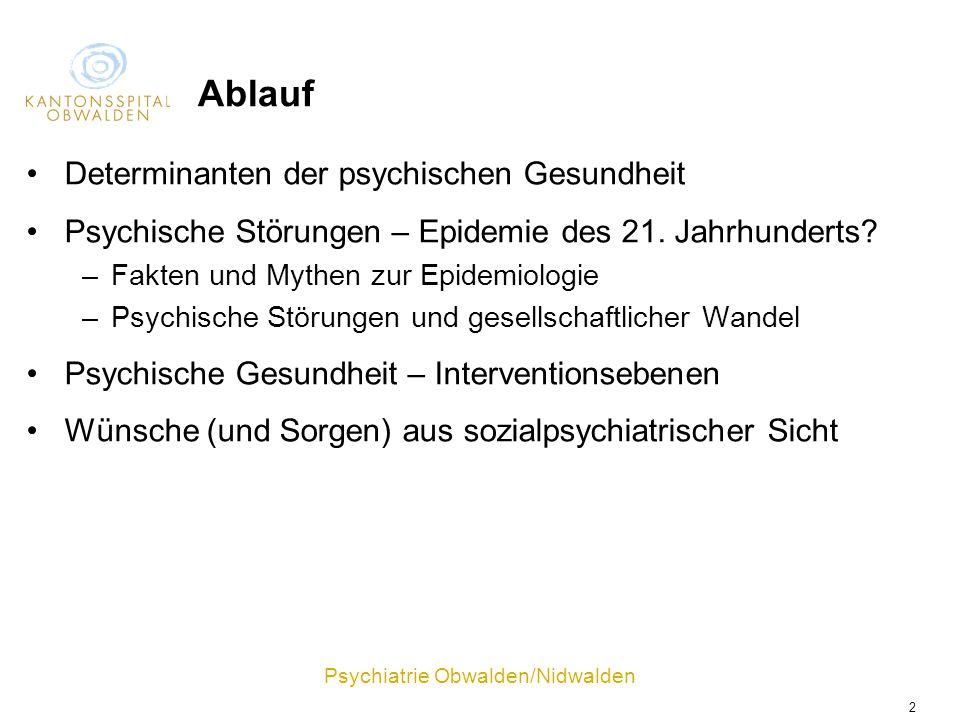Ablauf Determinanten der psychischen Gesundheit