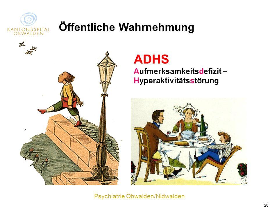 ADHS Öffentliche Wahrnehmung Aufmerksamkeitsdefizit –