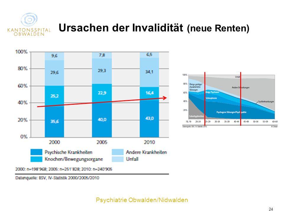 Ursachen der Invalidität (neue Renten)